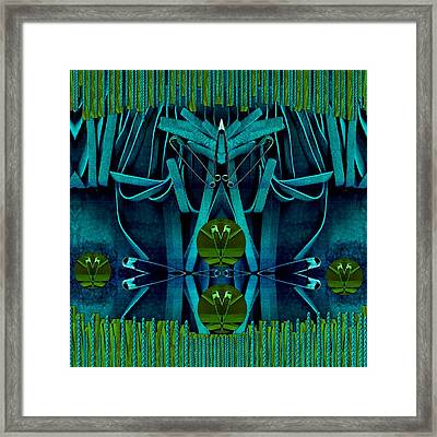The Under Water Temple Framed Print