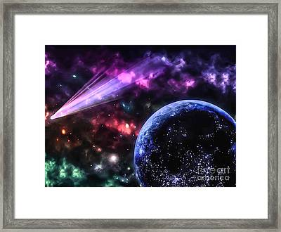The Undiscovered Planet  Framed Print by Naomi Burgess