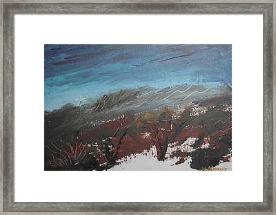 Framed Print featuring the painting The Unfinished Landscape by Martin Blakeley
