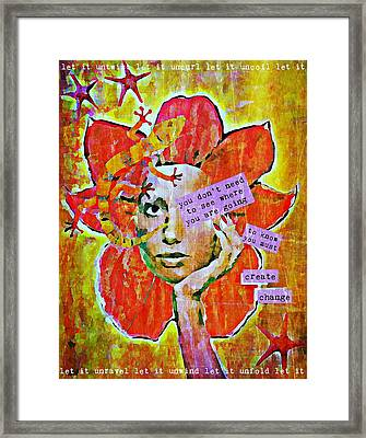 The Unfolding Framed Print by Maria Huntley