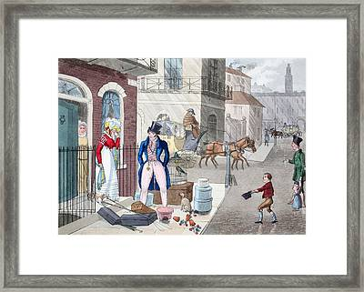 The Unfortunate Discovery, Illustration Framed Print by Daniel Thomas Egerton