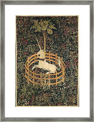The Unicorn In Captivity Framed Print