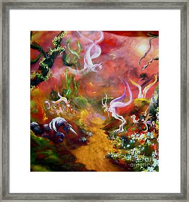 The Unicorn Framed Print by Michelle Dommer