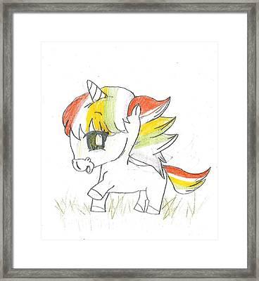 Baby Unicorn Framed Print by Raquel Chaupiz
