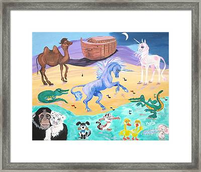 The Unicorn Song In Paint Framed Print by Phyllis Kaltenbach