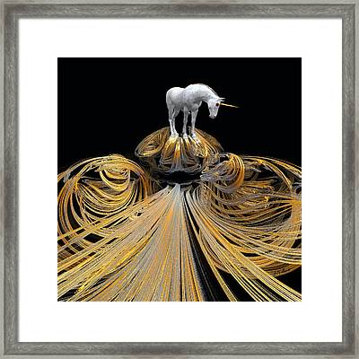 The Unicorns Golden Path Framed Print by Michael Durst
