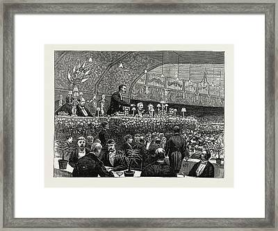 The Unionist Banquet At The Waverley Market Framed Print by Litz Collection