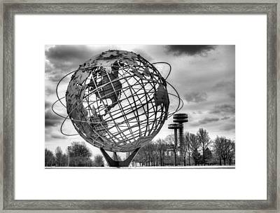 The Unisphere Framed Print