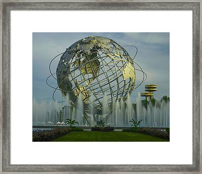 The Unisphere Framed Print by Theodore Jones