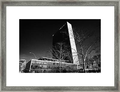 The United Nations Building Not In Session New York City Framed Print