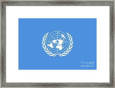 The United Nations Flag  Authentic Version Framed Print