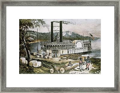 The United States 19th C..steamship Framed Print
