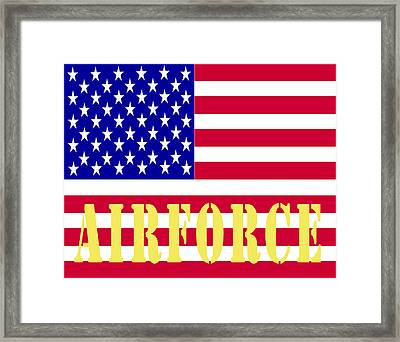 The United States Airforce Framed Print by Barbara Snyder