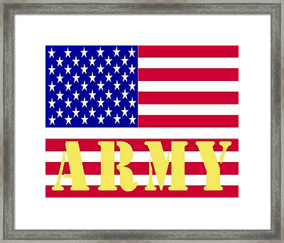 The United States Army Framed Print by Barbara Snyder