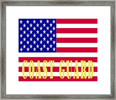 The United States Coast Guard Framed Print by Barbara Snyder