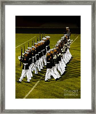 The United States Marine Corps Silent Drill Platoon Framed Print