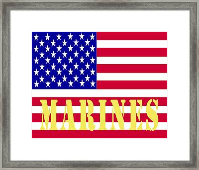 The United States Marines Framed Print by Barbara Snyder