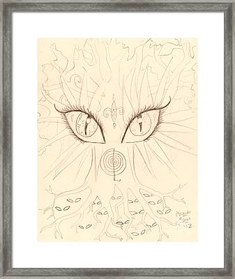 The Universal Tree Sketch Framed Print by Coriander  Shea