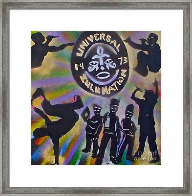 The Universal Zulu Nation Framed Print by Tony B Conscious