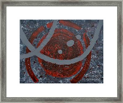 The Universe Abstract Art By Saribelle Rodriguez Framed Print by Saribelle Rodriguez