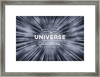 The Universe Crew Framed Print by Philipp Rietz