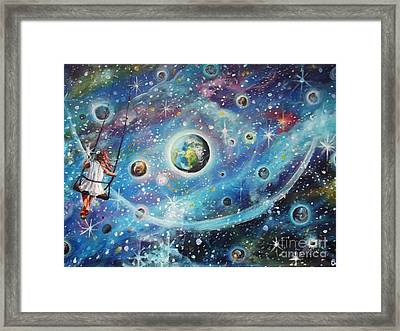 The Universe Is My Playground Framed Print by Dariusz Orszulik