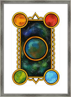 The Universe Framed Print by Nora Blansett