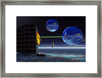 The Universe Of Cyberspace Framed Print
