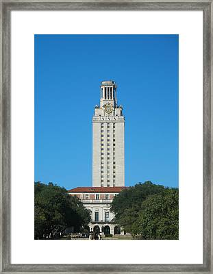 Framed Print featuring the photograph The University Of Texas Tower by Connie Fox