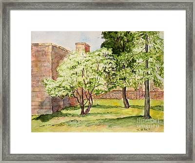 The University Of The South Campus Framed Print by Janet Felts