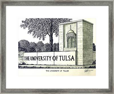 The University Of Tulsa Framed Print by Frederic Kohli