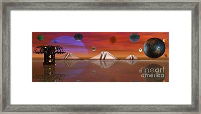 Framed Print featuring the digital art The Unknown by Jacqueline Lloyd