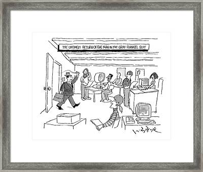 'the Untimely Return Of The Man In 'the Gray Framed Print by W.B. Park
