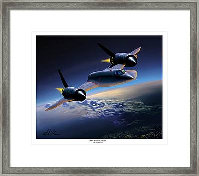 The Untouchable  Sr-71 Blackbird Framed Print by Mark Karvon