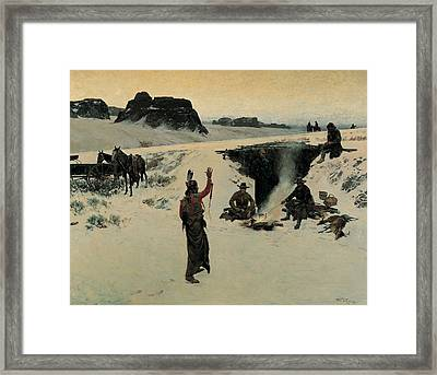 The Unwelcome Guests, 1887 Oil On Canvas Framed Print