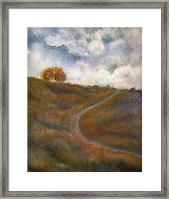 The Uphill Road Framed Print