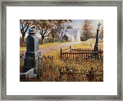 The Upward Path  Waikumete Cemetery  Auckland Framed Print