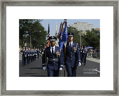 The U.s. Air Force Color Team Framed Print