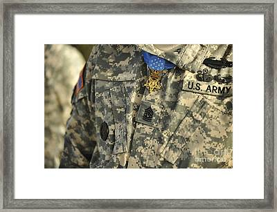 The U.s. Army Medal Of Honor Is Worn Framed Print by Stocktrek Images