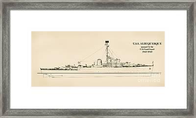The U.s.s. Albuquerque Framed Print by Jerry McElroy - Public Domain Image