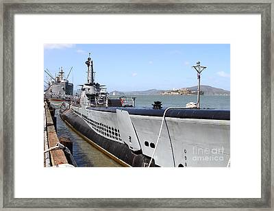 The Uss Pampanito Submarine At Fishermans Wharf . San Francisco California . 7d14417 Framed Print by Wingsdomain Art and Photography