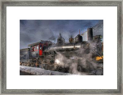 The V And T Steam Train Framed Print by Donna Kennedy