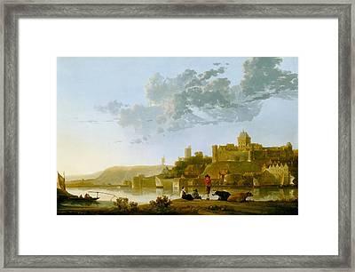 The Valkhof At Nijmegen Framed Print by Aelbert Cuyp