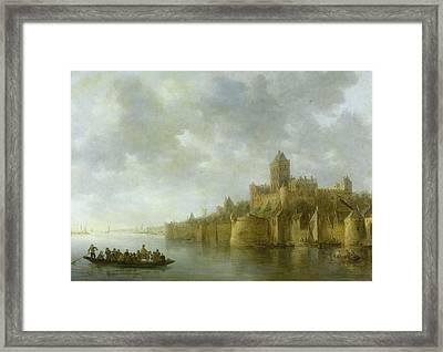 The Valkhof In Nijmegen Framed Print by Jan van Goyen