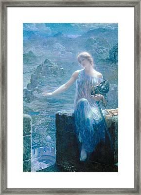 The Valkyries Vigil Framed Print by Edward Robert Hughes