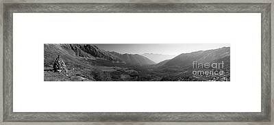 The Valley And The Rocks Framed Print by Marco Affini