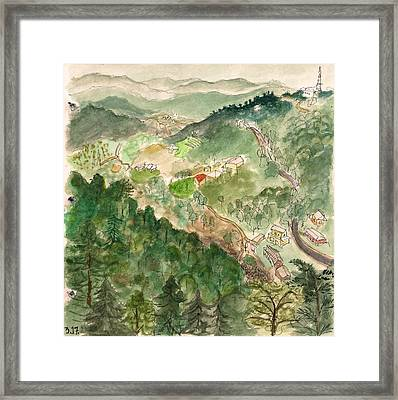 The Valley Beneath Mcleod Framed Print by Jennifer Mazzucco