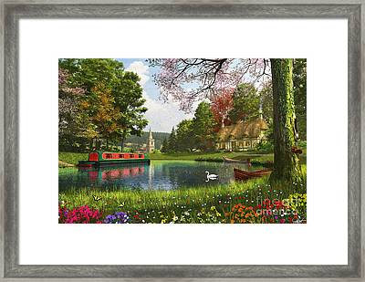 The Valley Cottage Variant 1 Framed Print by Dominic Davison