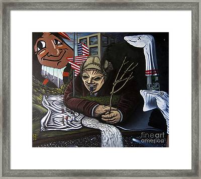 The Valley Heir Vs. The Vagabonds Of The Universe Framed Print by Mack Galixtar