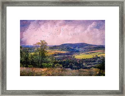 The Valley Framed Print by John Rivera